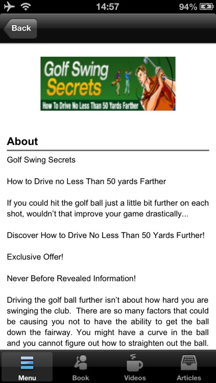Golf Swing Secrets:How to Drive no Less Than 50 yards Farther screenshot-4
