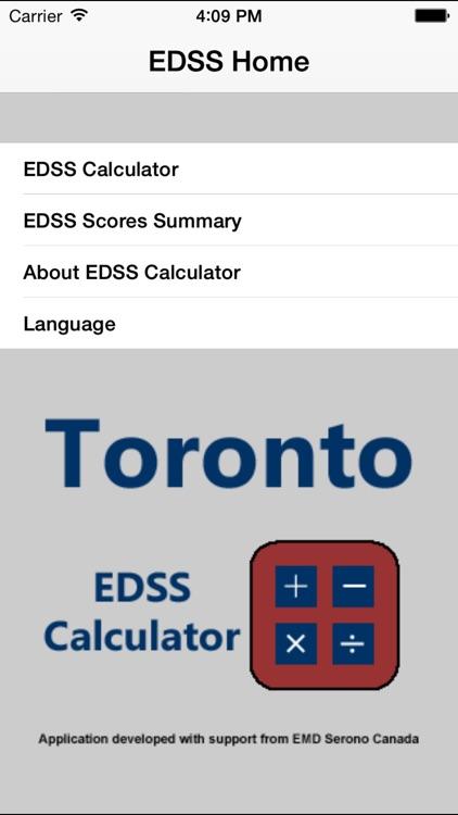 EDSS Calculator