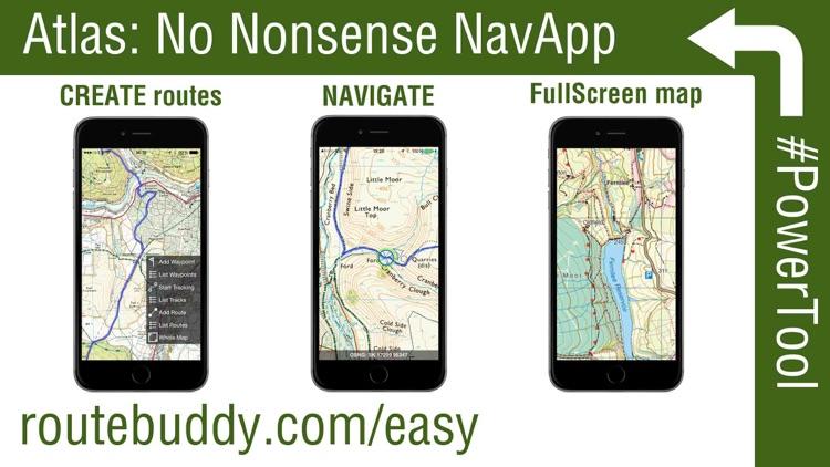 RouteBuddy Atlas - GPS Nav App for US and Worldwide Topo Maps screenshot-0
