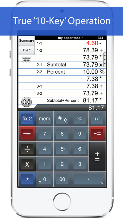 Adding Machine 10key Iphone review screenshots