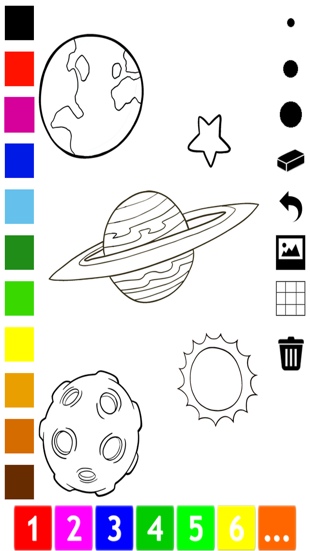 An Outer Space Coloring Book for Children: Learn to color astronaut, alien and ufo screenshot four