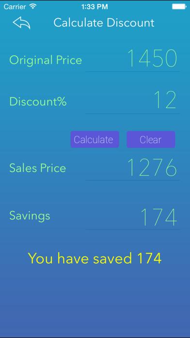 Percentage Calci screenshot one