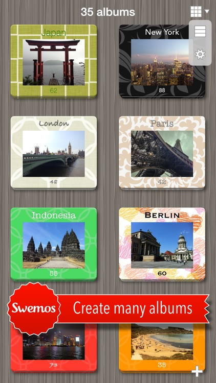 Swemos - Create photo albums and travel journals