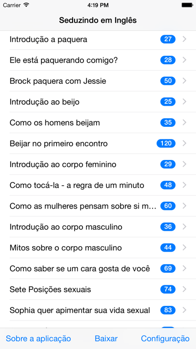 Inglês: Paquera, namoro e sexo screenshot one