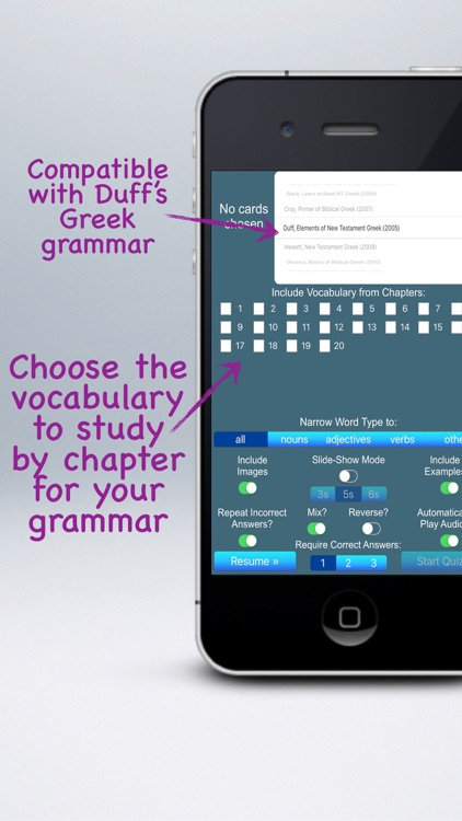 Multimedia Flashcards for Duff's Elements of NT Greek screenshot-0
