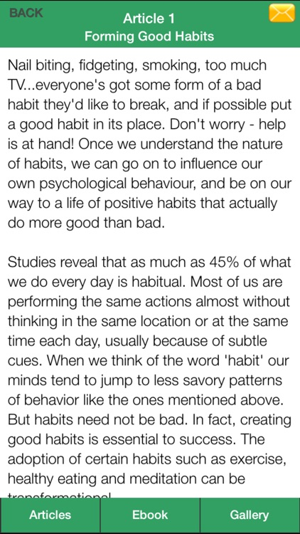 Good Habits Guide - A Guide To Changing Your Bad Habits To Good Habits ! screenshot-4