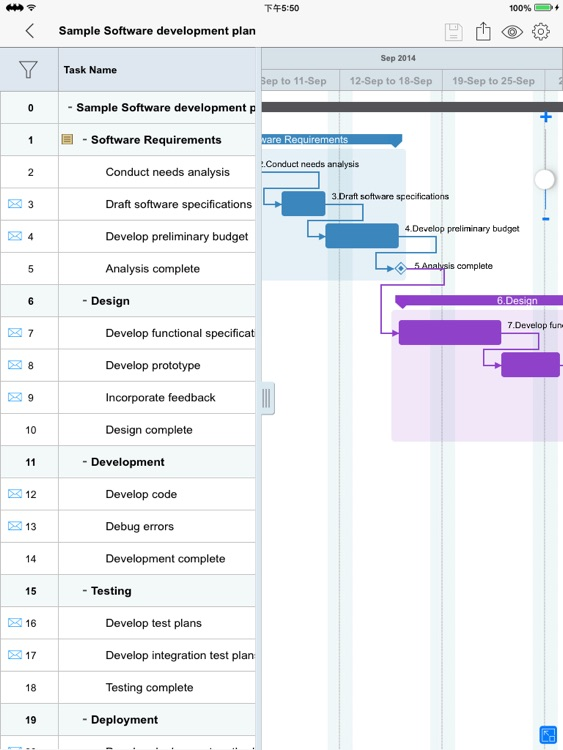 Project Manager - Plan, Task, Schedule Management & Gantt chart editor for MS Project XML files screenshot-3