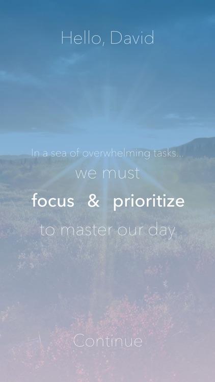 Tomorrow: To-Do List, Focused