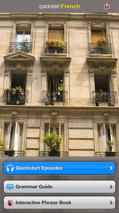 Quickstart French screenshot one