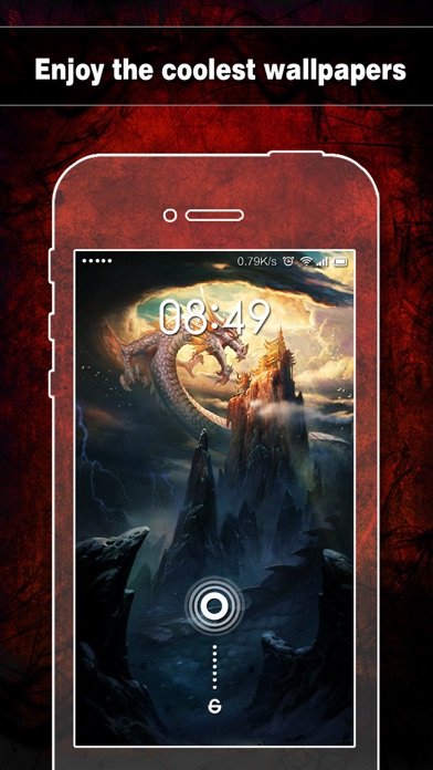 Dragon Wallpapers, Backgrounds & Themes - Home Screen Maker with Cool HD Dragon Pics for iOS 8 & iPhone 6のおすすめ画像4