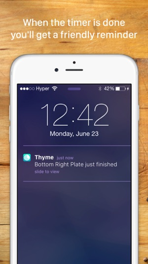 Thyme: A kitchen timer for your culinary arts Screenshot