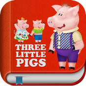 Kids Academy • The Three Little Pigs -  Interactive bedtime story book with fun puzzle games and learning activities. Best educational app for Baby, Toddlers and Preschool children. icon