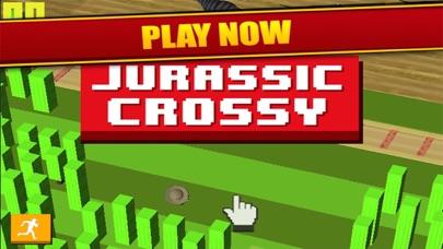 Jurassic Crossy - Dino Crossing Roads screenshot three