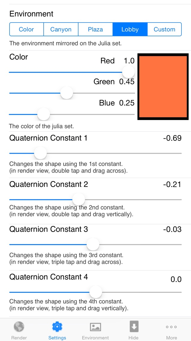 Screenshot for Quaternion Julia Raytracer in Canada App Store