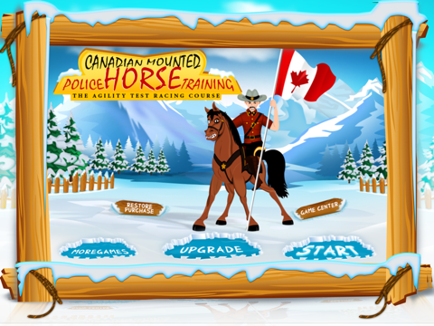 Canadian Mounted Police Horse Training : The Agility Test Racing Course - Free-ipad-0
