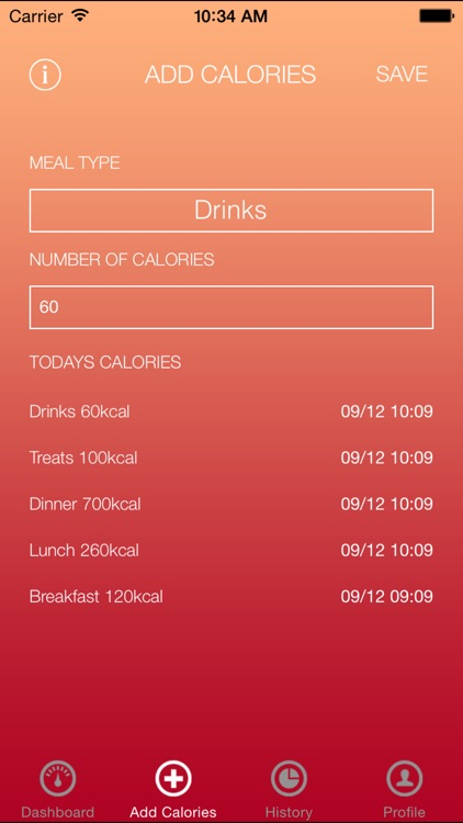 Simple Calorie Counter