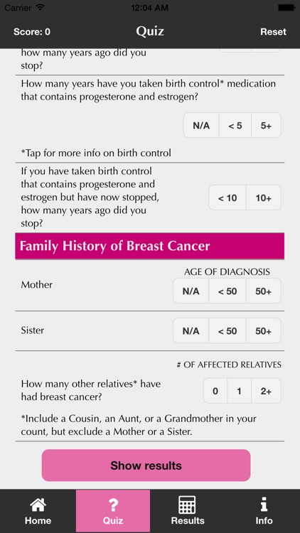 My Breast Friend: a Breast Cancer Risk Assessment and Associated Screening Options screenshot-2
