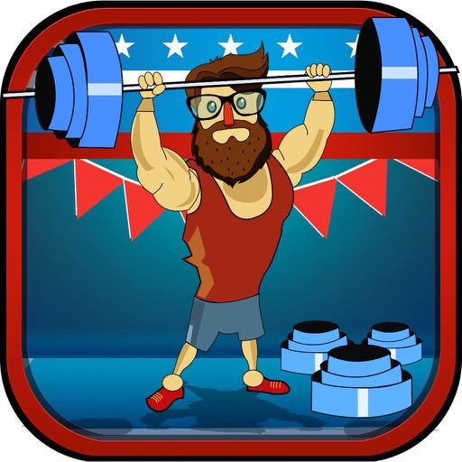 ` Hipster Weight Lifting: Tiny Meat Head Battle Competition Games
