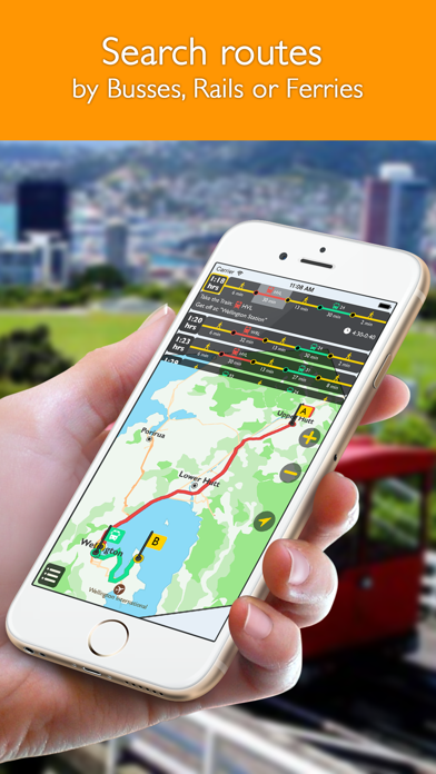 Wellington offline map with public transport route planner for my journey screenshot two