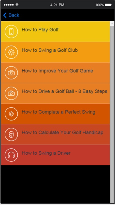 Golf Lessons and Inst... screenshot1