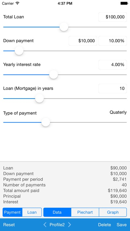 Loan Calculator - Quick Estimate of Your Loan and Mortgage: Principal, Interest and Loan Balance screenshot-0