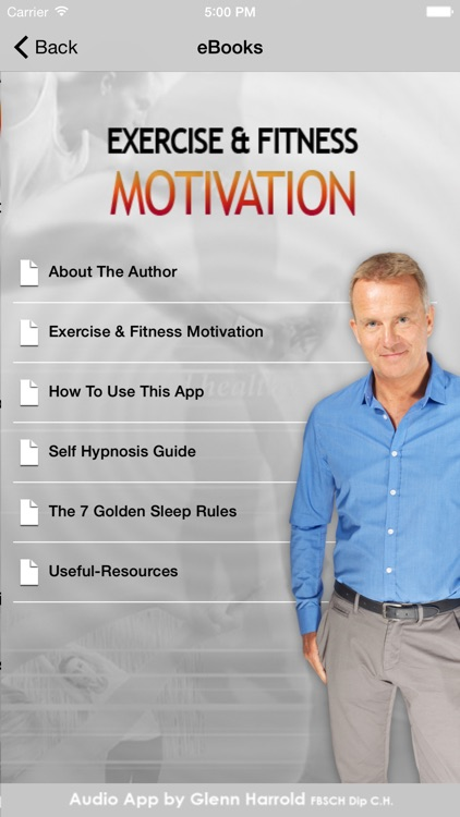 Exercise & Fitness Hypnosis Motivation by Glenn Harrold screenshot-3