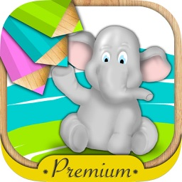 Animals for painting and coloring for kids with magic marker - Premium