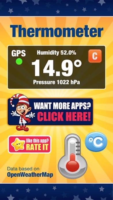 Digital Thermometer - Current Temperature in Celcius or Fahrenheit, Humidity, and Atmospheric Pressure Pyrometerのおすすめ画像1