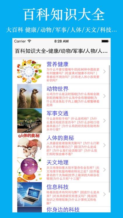 百科知识大全-健康/动物/军事/人体/天文/地理/信息/科技