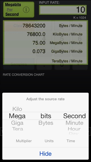 Data Rate Chart On The App Store