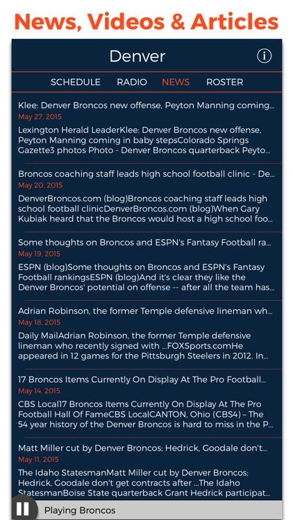 Denver Football Radio & Live Scores screenshot-4