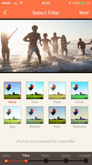 スライドショーアプリ7. SlideStory - Create a slideshow movie