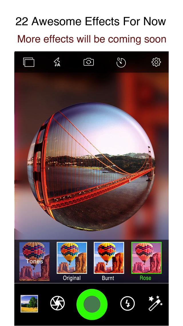 download iPixelCamera - Powerful Camera with Old Films, Fisheye Lens, Crystal Scenes and Color Flashlights apps 1