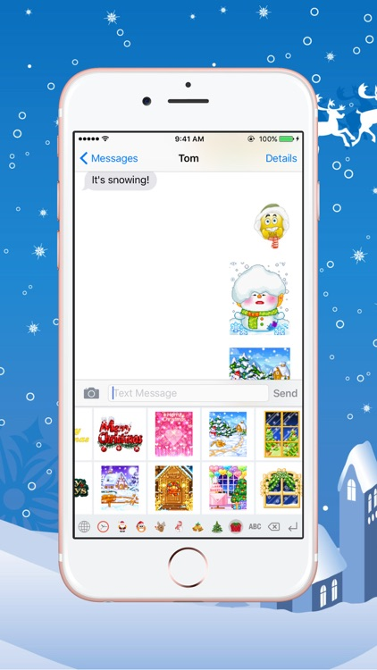 Christmas Gif Keyboard - Fully Animated Emoji for Christmas screenshot-3