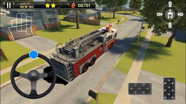 3D Fire Truck Parking - City Firetruck Driver Sirens