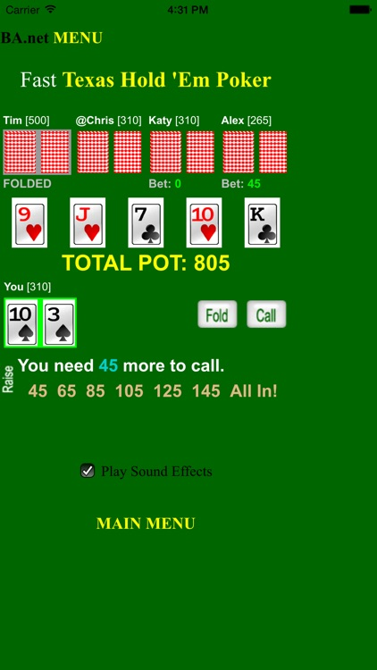free Fast Poker Texas Hold 'Em - BA.net