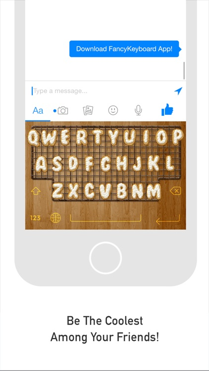 FancyKeyboard for iOS 8 - customize your keyboard with cool themes and backgrounds screenshot-4