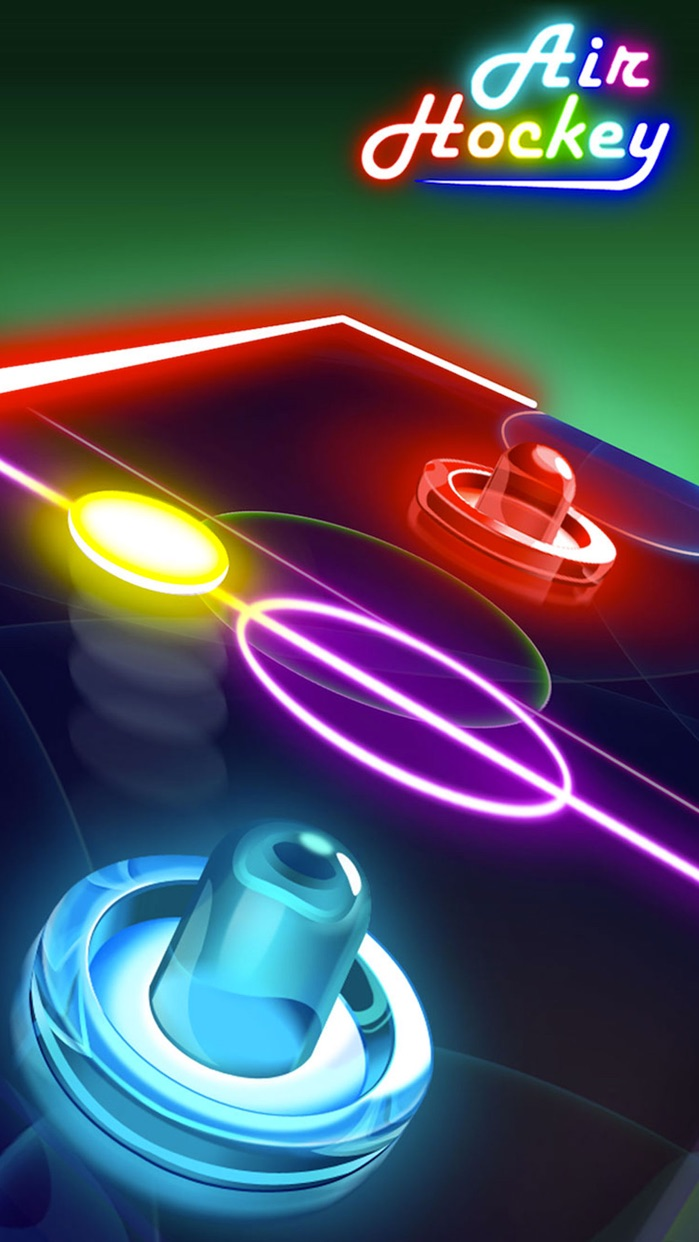 Glow Air Hockey Screenshot