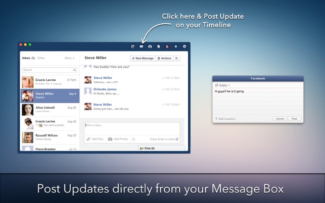 MessagePro for Facebook on the MacAppStore