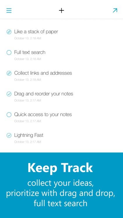 Quick Drafts - Notes, Errands and Shopping List screenshot-3