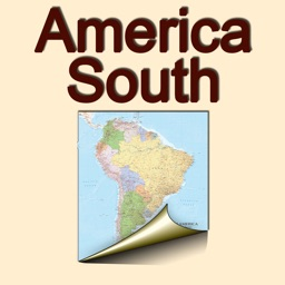 South America. Political map