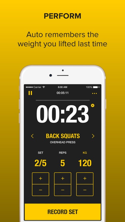 Strongr: Training Log for Weight Lifting and Strength Workouts screenshot-0