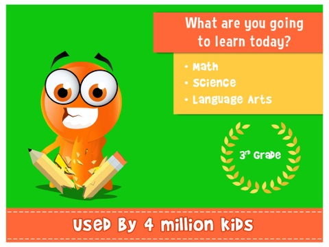 Screenshot #1 for iTooch 3rd Grade App | Math, Language Arts and Science
