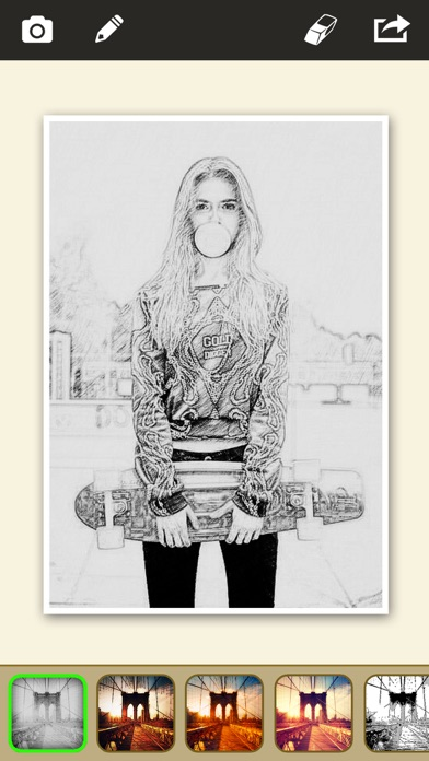 Photo Sketch Eraser - My Pencil Filter & Color Effects Editor-0