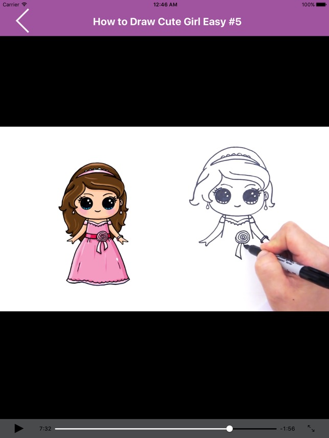 App Store How To Draw Cute Girls Easy For Ipad