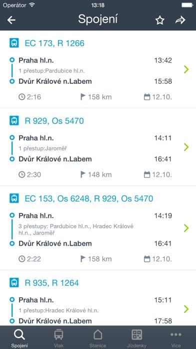 Screenshot for Můj vlak in Czech Republic App Store
