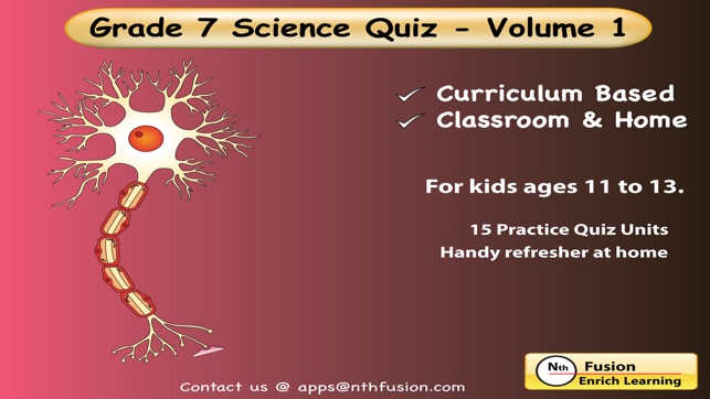 7th Grade Science Quiz # 1 : Practice Worksheets for home use and in  school classrooms