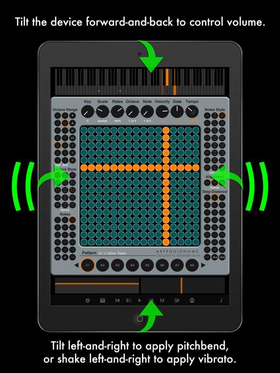 Arpeggionome Pro | matrix arpeggiator screenshot-3