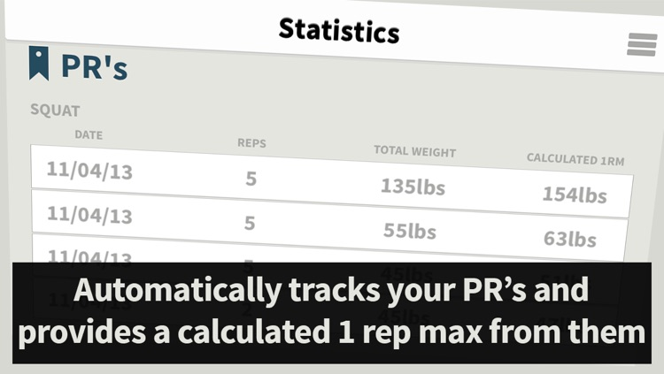 Strength Tracker: Program Tracking for Beginner Weight Lifting screenshot-3