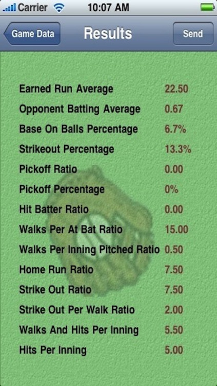 MyBaseball Pitching Stats